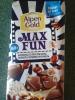 Шоколад Alpen Gold Max Fun мармелад со вкусом колы, попкорн, взрывная карамель