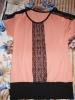 Блузка с полосой из кружевом Lila модель №2354