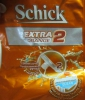 Бритвенный одноразовый станок Schick Extra Orange 2 для нормальной кожи