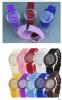 Наручные часы с силиконовым ремешком Geneva Watch Gel Crystal Silicone Men Lady Jelly Watch