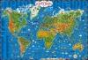 Детская карта мира издательство АСТ