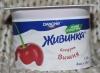 """Йогурт вишнёвый """"Живинка"""" 1,5% Danone"""