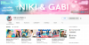 Канал на YouTube Niki and Gabi