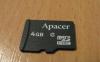 Карта памяти Apacer Micro SDHC 4Gb Class 2