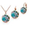 Комплект украшений для женщин Acefeel jewelry Crystal gold jewelry set for Women