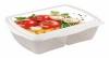 """Контейнер двухсекционный Бытпласт """"Рондо"""" для холодильника и микроволновой печи с декором"""