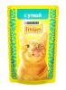 Корм Purina Friskies для взрослых котов с уткой