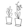 Набор украшений Ликнанде IKEA цветочный горшок, чёрный