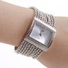 Женские часы AM GP3343 с серебристым ремешком и чешскими стразами