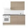 Модульная кухня Кноксхульт IKEA под дерево серый 180х61х220 см