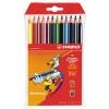 Набор цветных трёхгранных карандашей Stabilo Swano Trio 12 цветов