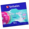 Перезаписываемый диск Verbatim DVD-RW 4x Colour