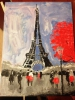 """Полотно на картоне с контуром Rosa """"Париж"""" код GPA283802"""