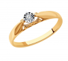 Помолвочное кольцо из золота с бриллиантом Sokolov Арт. 1011159