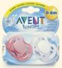 Пустышка силиконовая ортодонтическая Avent Naturally 0-6m