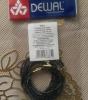 Резинки для волос с серебристой нитью, черные, midi Dewal Professional