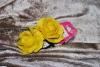 Резинки розочки желтые Instyle 2 штуки