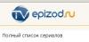 Сайт tvepizod.ru