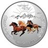 """Серебряная монета 1$ """"Год лошади. Инь-Янь"""" Банк Токелау 2014 г."""