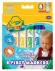 Цветные смывающиеся фломастеры Crayola для малышей 8 шт. Артикул: 81.8324