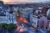 Улица Gran Via в Мадриде (Испания)