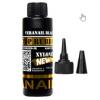 Верхнее покрытие гель-лака для ногтей VeraNail Black Топ каучуковое покрытие