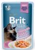 Влажный корм для стерилизованных кошек Brit Premium кусочки филе лосося