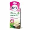 Восковые полоски Veet Naturals для лица с маслом ши для нормальной и сухой кожи