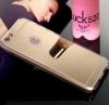 Зеркальный силиконовый бампер-чехол Antecase Ultra Slim Gold Mirror Case для iPhone 5/5S