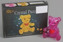 3D головоломка Мишка розовый Crystal Puzzle