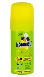 """Аэрозоль """"Mosquitall актив защита"""", защита до 4 часов, от укусов комаров, мошек, слепней"""