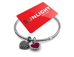 Акция шарм «Двойное сердце» в подарок от Sunlight совместно с МТС