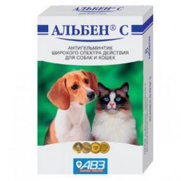 Антигельминтик широкого спектра действия для собак и кошек  АВЗ Альбен С