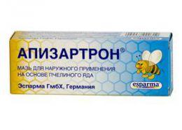 Мазь Апизартрон для наружного применения на основе пчелиного яда