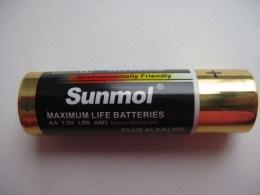 Батарейки Sunmol Maximum Life Batteries AA 1.5V LR6 AM3 Mignon MN1500 E91 Plus Alkaline
