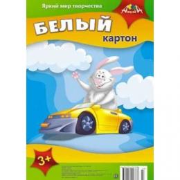 """Белый картон """"Заяц"""" Апплика, 5 листов"""