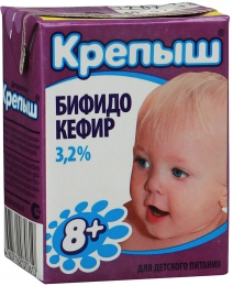 """Бифидокефир """"Крепыш"""" для детского питания 3,2%"""