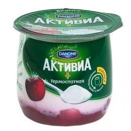 """Биойогурт термостатный двухслойный Danon """"Активиа"""" с вишней"""