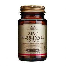 Биологически активная добавка Solgar Zinc picolinate 22 mg