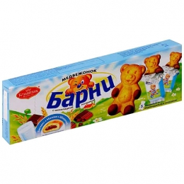 """Бисквитное пирожное """"Медвежонок Барни"""" с шоколадной начинкой"""