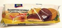 Бисквитное печенье Aro с абрикосовой начинкой