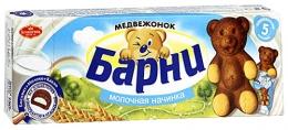 """Бисквитное пирожное """"Медвежонок Барни"""" с молочной начинкой"""