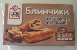 Блинчики «Fine Food» с картофелем и грибами
