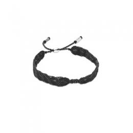 "Браслет ""Pandora"" макраме серый серебро 925 №590711CGY-S"