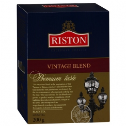 Чай черный байховый цейлонский крупнолистовой Riston Vintage Blend