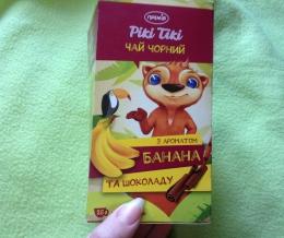 """Чай черный """"Премия"""" Рики Тики с ароматом банана и шоколада в пакетиках"""