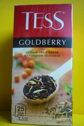 Чай черный Tess Goldberry с айвой и ароматом облепихи