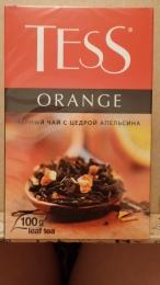 Чай черный Tess Orange с цедрой апельсина