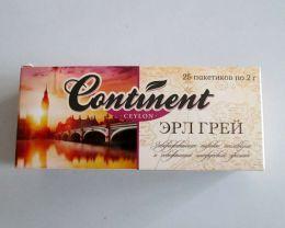 """Чай чёрный байховый цейлонский """"Эрл Грей"""" Continent Ceylon пакетированный"""