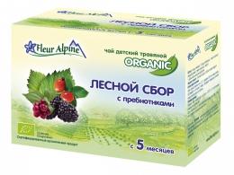 """Чай детский травяной Fleur Alpine Organic """"Лесной сбор с пребиотиками"""""""